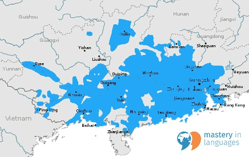Cantonese Speaking Areas